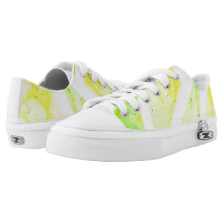 Green Triangle Low-Top Sneakers