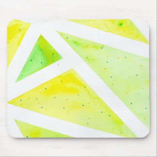 Green Triangle Mouse Pad