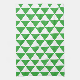Green Triangle Pattern Kitchen Towel