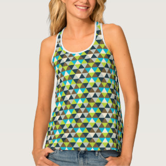 Green Triangle Pattern Tank Top
