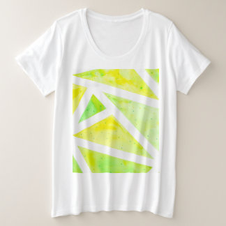 Green Triangle Plus Size T-Shirt