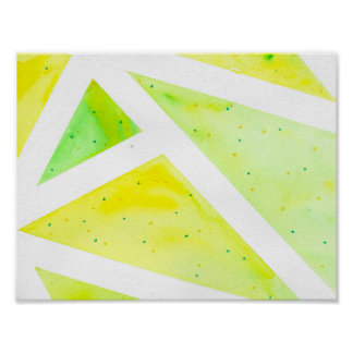 Green Triangle Poster