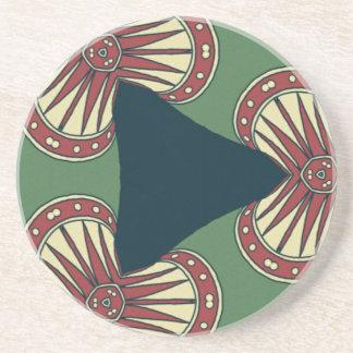 Green Triangles Coaster
