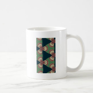 Green Triangles Coffee Mug