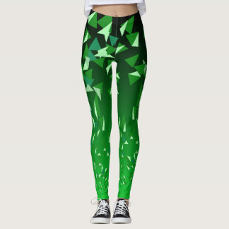 GREEN TRIANGLES LEGGINGS