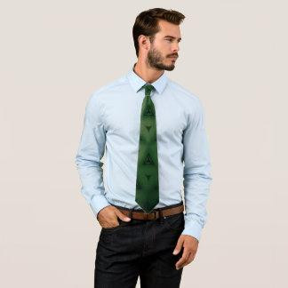 Green triangles tie