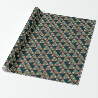 Green Triangles Wrapping Paper
