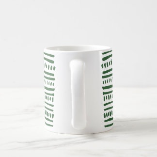 green tribal stripe mug