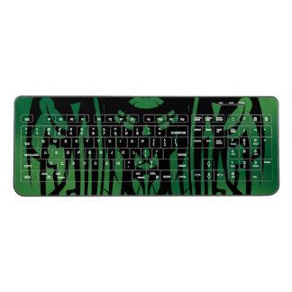 Green Tribal Wireless Keyboard