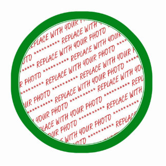 Green Trimmed Border Template Cut Outs