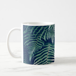 Green Tropical Fern Leaves Natural Pattern Coffee Mug