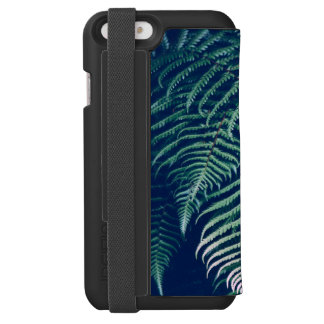 Green Tropical Fern Leaves Natural Pattern Incipio Watson™ iPhone 6 Wallet Case