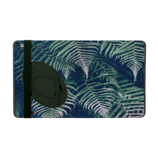 Green Tropical Fern Leaves Natural Pattern iPad Cover