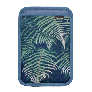 Green Tropical Fern Leaves Natural Pattern iPad Mini Sleeve
