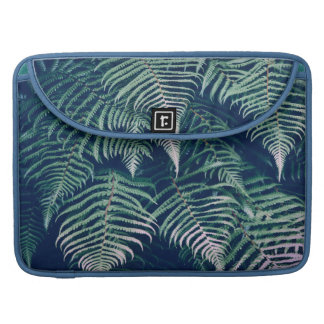 Green Tropical Fern Leaves Natural Pattern Sleeve For MacBooks