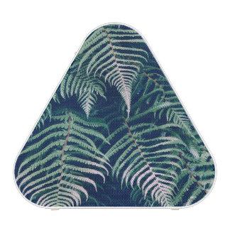 Green Tropical Fern Leaves Natural Pattern Speaker