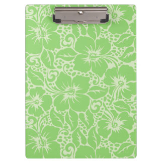 Green tropical floral clipboard