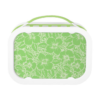 Green tropical floral lunch box