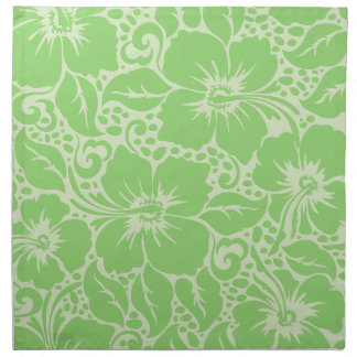 Green tropical floral napkin