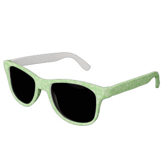 Green tropical floral sunglasses