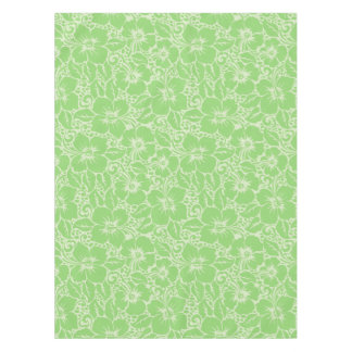 Green tropical floral tablecloth