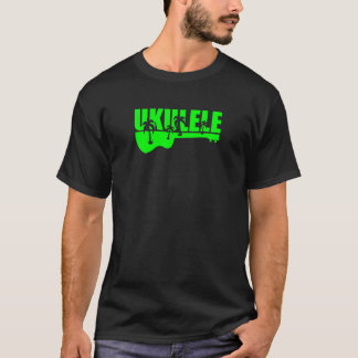 green tropical hawaiian uke ukulele design T-Shirt