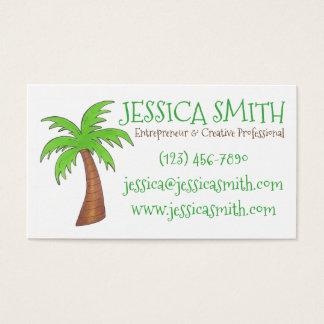 Green Tropical Island Beach Palm Tree Palmtree Business Card