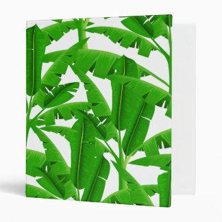 Green tropical palm trees binder