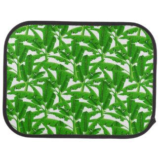 Green tropical palm trees car mat