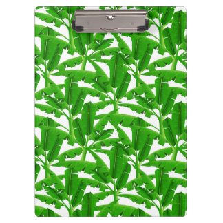 Green tropical palm trees clipboard