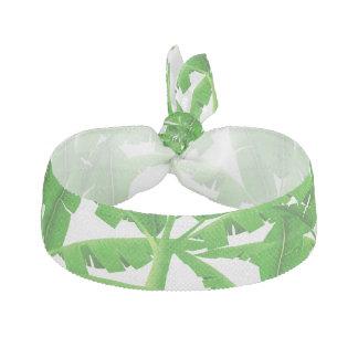 Green tropical palm trees hair tie