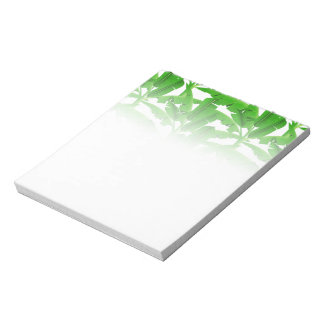 Green tropical palm trees notepad