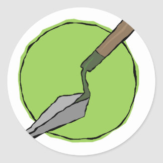 Green Trowel - Archaeologist's Toolkit Classic Round Sticker