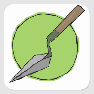 Green Trowel - Archaeologist's Toolkit Square Sticker