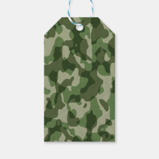 Green Tundra Camo Gift Tags