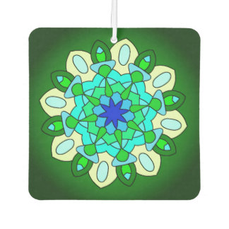 Green Turquoise Blue Star Car Air Freshener