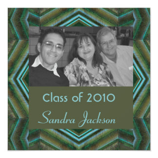 green turquoise graduation card