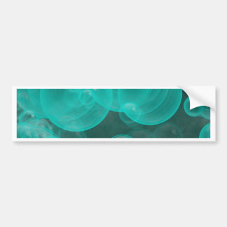 green- turquoise playful bubbles bumper sticker