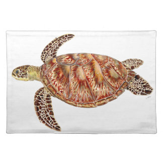 Green turtle - green Turtle Chelonia mydas Placemat