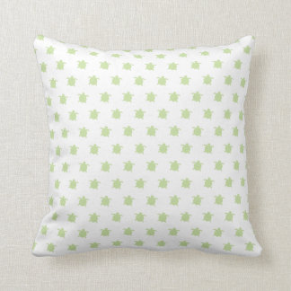 Green Turtle Pattern Throw Pillow