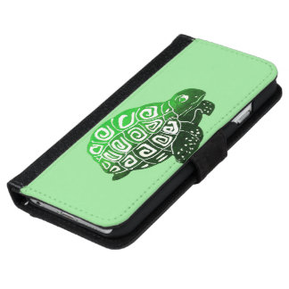 Green Turtle Phone Wallet Case