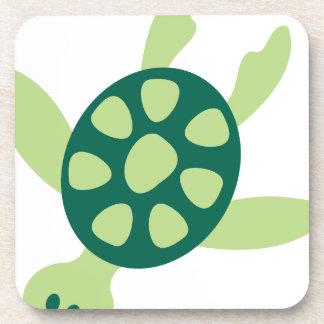 Green Turtle Swimming Coaster