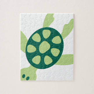 Green Turtle Swimming Jigsaw Puzzle