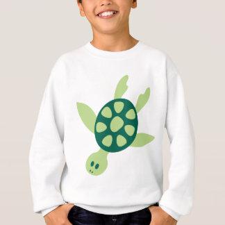 Green Turtle Swimming Sweatshirt