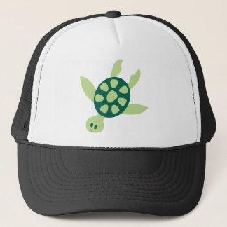 Green Turtle Swimming Trucker Hat