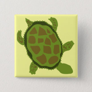 Green Turtle Tshirts and Gifts 2 Inch Square Button