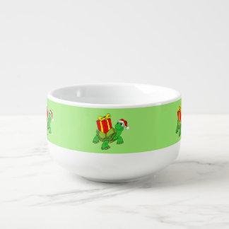 Green Turtle w/ Christmas Gift Soup Mug