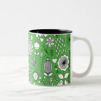 Green two-tone mug