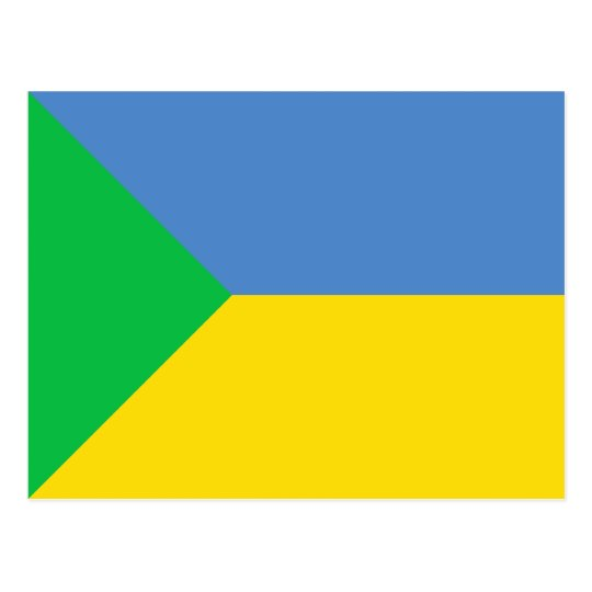Green Ukraine, Ukraine flag Postcard
