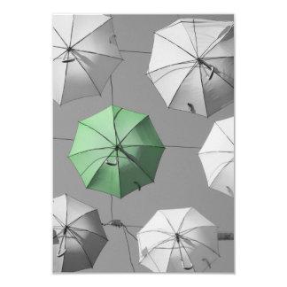 Green Umbrella Invitation